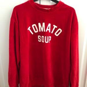 Zara Tomato Soup Sweatshirt
